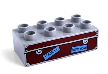 ... Duplo - potisk střední kufr - Potisky-střední nízký šedý kufr
